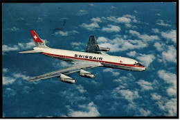 Swissair  -  Douglas DC-8  -  Ansichtskarte Ca. 1981    (5546) - 1946-....: Moderne