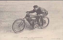 REPRODUCTION DE C P A---MOTOS---nos Motocyclistes Marius THE---voir 2 Scans - Motos