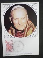 Pélerinage De Sa Sainteté Jean Paul II 2/06/1980 Lisieux - Marcophilie (Lettres)
