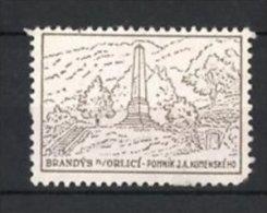 Reklamemarke Brandys N/ Orlici, Kriegerdenkmal - Obelisk - Erinnophilie