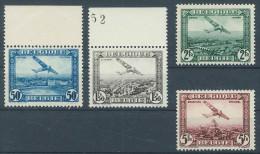 Belgique - Poste Aérienne PA 1/4 ** Avion Fokker Survolant Des Villes Belges - Airmail