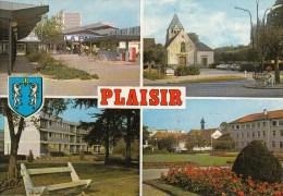 78 - PLAISIR - Vues: Centre Commercial Brigitte - Eglise - Résidence De La Haise - Hôpital Départemental Des Petits Près - Plaisir