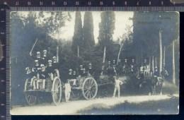 393/16  CPA CARTOLINA POSTALE 1903  CAROVANA UFFICIALI 10° FANTERIA ROSIGNANO VERA FOTO - Reggimenti