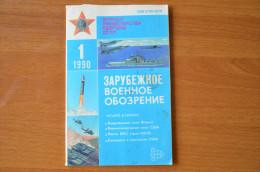 Soviet Union Russia Russland Magazine 1990 Nr. 1 Foreign Military Overview - Revistas & Periódicos