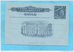 CHILI- CARTE Entier PostaL Illustré  3c -neuf**Christophe COLOMB-années 1890-1900 - Chile