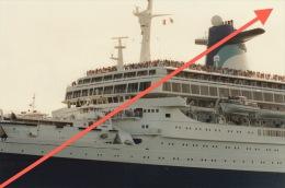 Grande Photo Du Paquebot France Norway - Barche