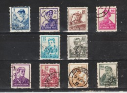 1955, METIERS,  YV No 1382/1393 Et MI No 1500/1509 - 1948-.... Republics