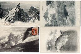 La Meije - 4 CPA - Le Pic Central, Pic Du Rateau, Goufre Du Glacier ..  (84013) - France