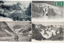 La Meije - 4 CPA - Signal De La Lauze, Glacier De La Girose, La Grave (Terrasse) Les Etançons.- Animation .  (84014) - Non Classés