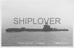 Sous-marin SIRENE (Marine Nationale) - Carte Photo éd. Marius Bar - Bateau/ship/schiff - Krieg