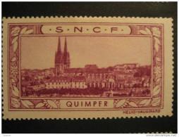 Quimper S.N.C.F. Tourism Tourisme Poster Stamp - Erinnophilie