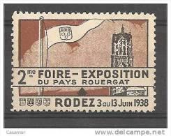 RODEZ Pays Rouergat 1938 Foire Exposition Vignette Poster Stamp - Erinnophilie