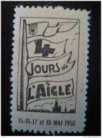 FRANCE 1958 4 Jours De L' Aigle Flag Eagle Poster Stamp - Erinnophilie