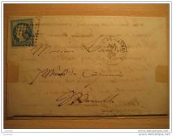 1872 AIX-EN-PROVENCE Aix En Provence 25c Timbre Sello Stamp Sobre Cover Lettre France - 1871-1875 Cérès