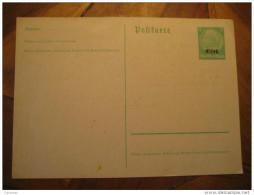 Germany Occupation Elsass Alsace Hindenburg Postal Stationery Card France - Alsace-Lorraine