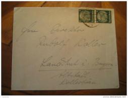 KOLMAR To Landschuk Germany Occupation Elsass Alsace 2 Hindenburg Stamp On Cover France - Alsace-Lorraine