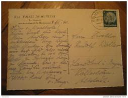 KOLMAR 1940 To Landschuk Germany Occupation Elsass Alsace Hindenburg Stamp On Valle Munster Hohneck Mountains France - Alsace-Lorraine