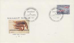 Enveloppe  1er  Jour  GROENLAND   Crevettes   1982 - FDC