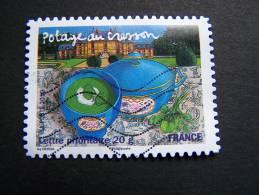OBLITERE FRANCE ANNEE 2010 N° 447 POTAGE AU CRESSON SERIE SAVEURS DE NOS REGIONS AUTOCOLLANT ADHESIF - France