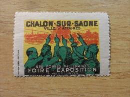 CHALON SUR SAONE 1931 FOIRE EXPOSITION Label Vignette Poster Stamp France - Aviation