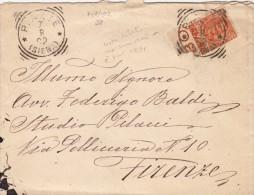 PIAZZE Siena 1902 - ANNULLO TONDO RIQUADRATO - SX225 - Storia Postale