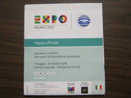 EXPO 2015 MILANO WORLD EXIBITION -MAP MAPPA CARTA PADIGLINI IN ITALIANO - Altri
