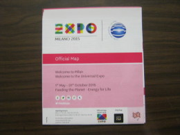 EXPO 2015 MILANO WORLD EXIBITION -MAP MAPPA CARTA PADIGLINI IN INGLESE - Altri