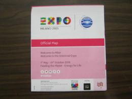 EXPO 2015 MILANO WORLD EXIBITION -MAP MAPPA CARTA PADIGLINI IN INGLESE - Mappe