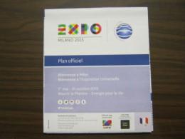 EXPO 2015 MILANO WORLD EXIBITION -MAP MAPPA CARTA PADIGLINI IN FRANCESE - Altri