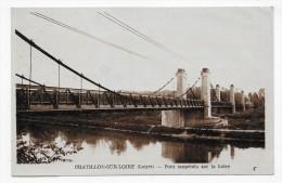 (RECTO / VERSO) CHATILLON SUR LOIRE EN 1948 - PONT SUSPENDU SUR LA LOIRE - FORMAT CPA - Chatillon Sur Loire