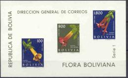 """BOLIVIEN Block 15 """"Blüten"""" MNH / ** / Postfrisch - Bolivien"""