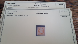 LOT 296023 TIMBRE DE FRANCE NEUF(*) N�16 VALEUR 1100 EUROS BLOC