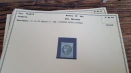 LOT 296057 TIMBRE DE FRANCE OBLITERE N�39C VALEUR 175 EUROS BLOC