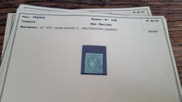 LOT 296062 TIMBRE DE FRANCE OBLITERE N�42B VALEUR 200 EUROS BLOC