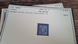 LOT 296069 TIMBRE DE FRANCE OBLITERE N�4 VALEUR 60 EUROS TTB  BLOC