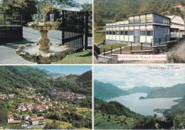 COMO - Plesio - Stabilimento Acqua Chiarella - 4 Vedute - Fontana - Como