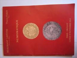 Beaussant Lefevre - Thierry Parsy - Numismatique - Catalogue De Vente 19 Novembre 2012 - Français