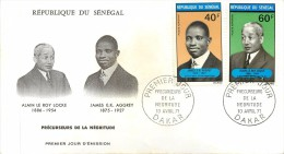 REPUBLIQUE DU SENEGAL - Alain Le Roy Locke,James EK Aggrey; Précurseurs De La Négritude. - FDC