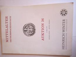 Mittelalter Deutschsprachiger Raum - Auktion 36 - 14 Mai 1979- Düsseldorf -Heinich Winter - Deutsch