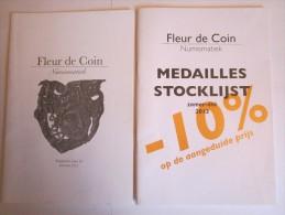Lot De Deux Catalogues De Vente De Médailles 'Fleur De Coin'  2013 - Français