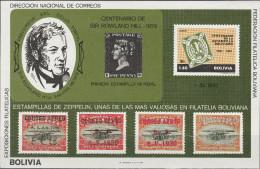 """BOLIVIEN Block 95 """"100.Todestag Sir Rowland Hill"""" MNH / ** / Postfrisch - Bolivien"""