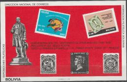 """BOLIVIEN Block 94 """"100.Todestag Sir Rowland Hill"""" MNH / ** / Postfrisch - Bolivien"""