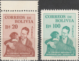 """BOLIVIEN 544-5 """"3.interamerikanischer Eingeborenenkongress"""" MNH / ** / Postfrisch - Bolivien"""