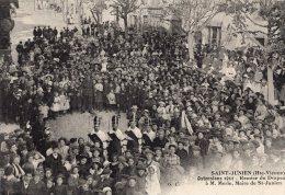 V441 cpa 87 Saint Junien - Ostensions 1911, remise du Drapeau � M. Merle maire de St Junien