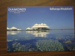 EXPO 2015 MILANO WORLD EXIBITION - CARTOLINA DIAMONDS ATHURUGA THUDUFUSHI MALDIVES CORALLI RESORT - Maldive