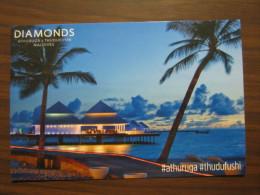 EXPO 2015 MILANO WORLD EXIBITION - CARTOLINA DIAMONDS ATHURUGA THUDUFUSHI MALDIVES PALME TRAMONTO RESORT - Maldive
