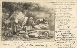 Bretagne - Lavandières - Poème De Botrel - Coll. Hamonic - Indications Du Verso écrites En Breton - Contes, Fables & Légendes