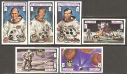 Ras Al-Khaima 1972 Mi# 738-743 B ** MNH - Imperf. - Apollo 16 / Space - Raumfahrt