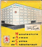 Catalogue 1962 Manufacture Arme Cycle Chatellerault - Vestiario & Tessile
