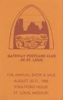 GATEWAY POSTCARD CLUB OF ST. LOUIS, 11th ANNUAL SHOW, 1986, Unused Postcard [16538] - Collector Fairs & Bourses